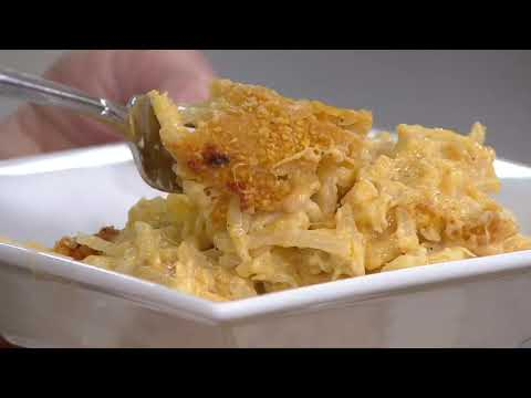 The Big Fish Grill (2) 32-oz Trays Of Original Cheese Neva Potatoes On QVC