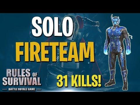 SOLO-FIRETEAM #7 (31 KILLS) - Rules of Survival