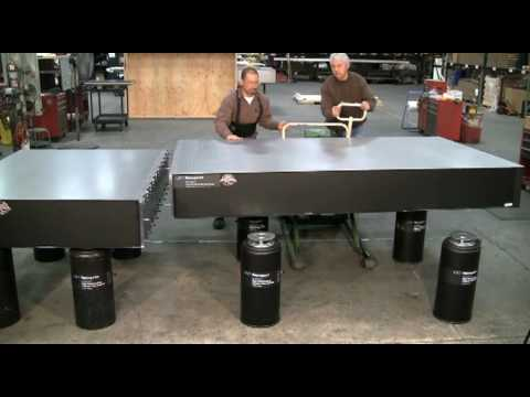Modular Doubled Optical Table Installation Part 1 Youtube