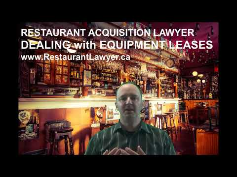 Restaurant Acquisition Lawyer: Dealing with Equipment Leases