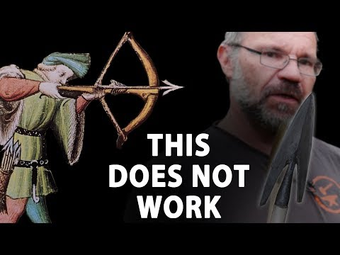 Medieval Swallowtail Crossbow Bolts Don't Work!