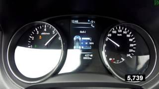 Nissan  X-Trail - до какой скорости работает полный привод? Acceleration 0-100 km/h (Racelogic)