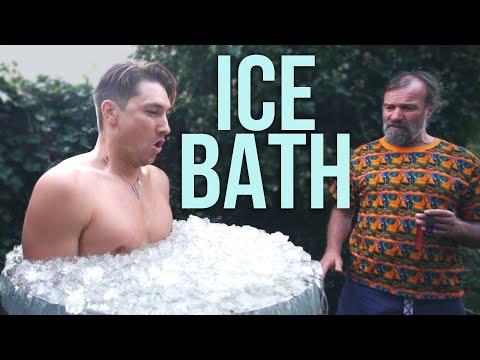 """10 Min Ice Bath With """"Ice Man"""" Wim Hof"""