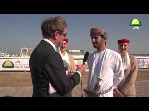 President Oman Equestrian Federation with Darek Thompson - Muscat Oman
