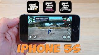 КАК ИДУТ GTA 3, VICE CITY И SAN ANDREAS НА IPHONE 5S
