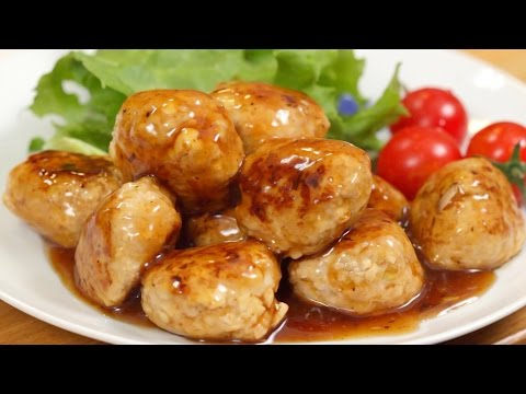 How to Make Meatballs with Sweet Vinegar Sauce 肉団子の甘酢あんかけ 作り方 レシピ