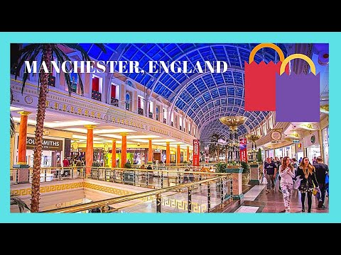 MANCHESTER, the beautiful TRAFFORD CENTRE SHOPPING MALL, ENGLAND