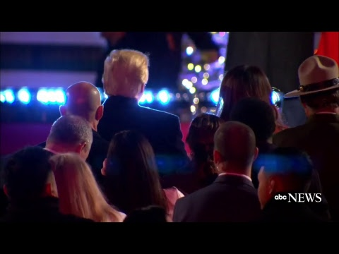 national christmas tree lighting 2017 attended by president donald trump first lady melania trump