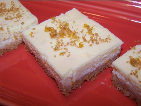 Orange Marmalade Cheesecake Bars - Gluten Free Dessert