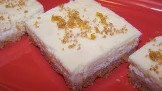 Orange Marmalade Cheesecake Bars - Gluten Free Dessert