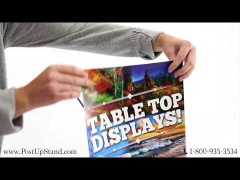 How to Assemble an X-Frame Table Top Display