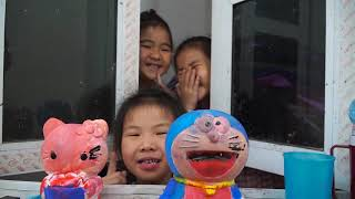 Kids Go To School | Chuns And Friends Learn To Draw Earth Statues Doremon