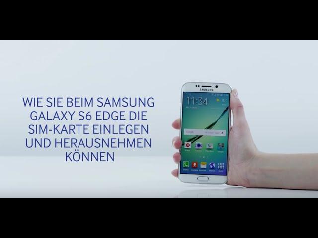 Samsung Galaxy S6 Sim Karte Einlegen.Sim Karte Einlegen Beim Galaxy S6 Und S6 Edge