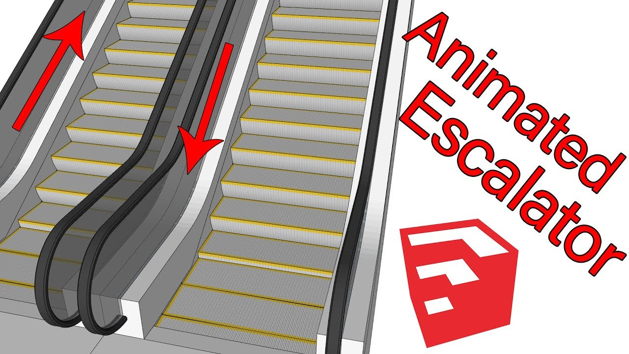 Animate escalator in sketchup with msphysics