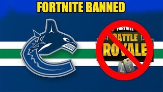 Fortnite Gets Banned By NHL Team
