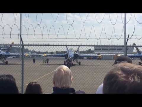 Blue Angels - Preflight and rollout - Museum of Flight, Boeing Field - Seafair 2014