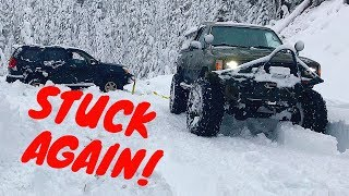 Stuck Fest ! Toyota and GX470 Lexus  Oregon Cascades snow wheeling season 2018/2019