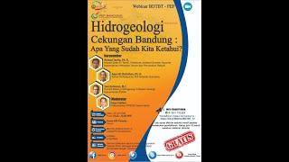 Download Lagu [ Webinar ] Hidrogeologi Cekungan Bandung: Apa yang sudah kita ketahui? mp3