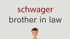 Wie heißt schwager auf englisch