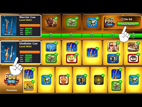 8 Ball Pool Warrior Season 💪 Unlock All Pool Pass ⏱ 5 Hours