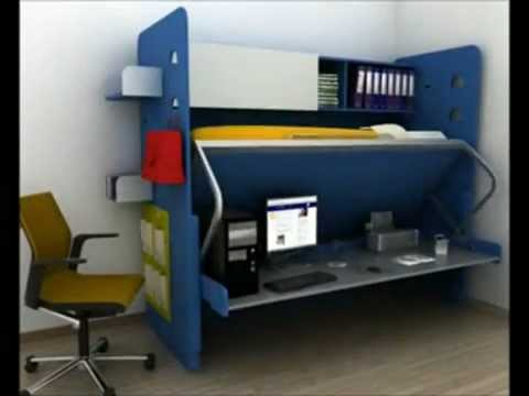 Cama escondida ideas y muebles bogota d c colombia youtube for Muebles multifuncionales ikea