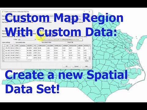 QGIS Intro 2: Spatial Econometrics: Create a Custom Spatial Data Set