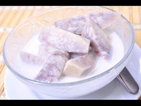 Thai Dessert – Taro in Coconut Milk (Pueak Gang Buad)