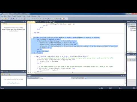 VB 2010 tutorial - Space Invaders - part 5 - collision ...