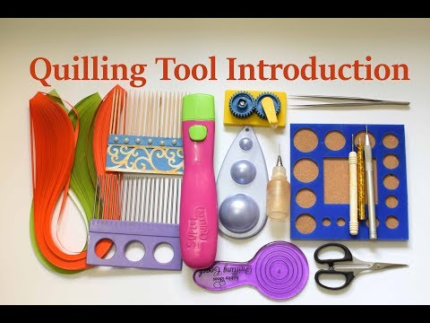 Introduction to Paper Quilling Part one/ Paper Quilling Tools