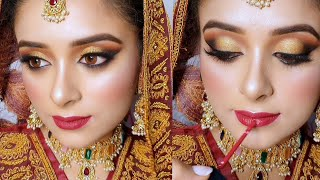 Step By Step: How to Do Pakistani/Asian Bridal Makeup Tutorial !!!