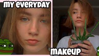 MY EVERYDAY MAKEUP макияж бомжа на каждый день