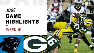 Panthers vs. Packers Week 10 Highlights | NFL 2019