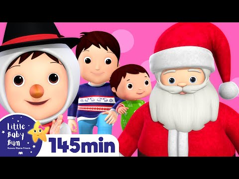 Christmas Songs Compilation! | Huge! | Plus Over 2 Hours of Nursery Rhymes by LittleBabyBum!