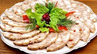 Домашняя ветчина из курицы Потрясающе вкусная замена магазинной колбасе Готовим в ветчиннице