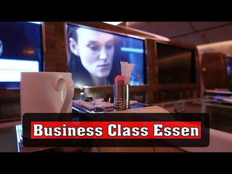 Essen in der Emirates Business Class nach Frankfurt :-)