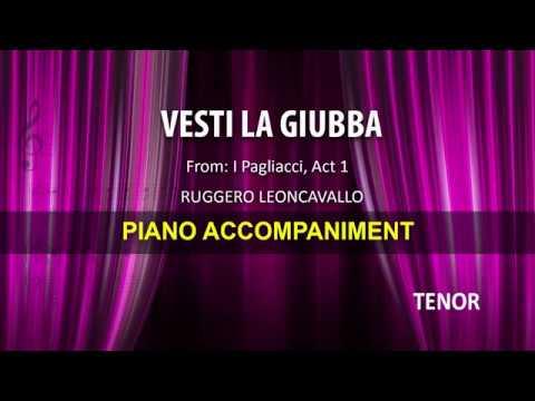 Vesti la giubba / Leoncavallo: Karaoke + Score guide / Tenor