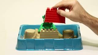 Sand castles Superhero Play Doh Stop motion cartoons