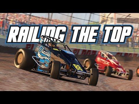 iRacing: Railing the Top (Wingless Sprintcar @ Eldora)