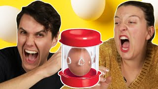 Egg Lovers Try Egg Gadgets