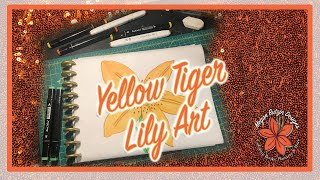 Yellow Tiger Lily Art.