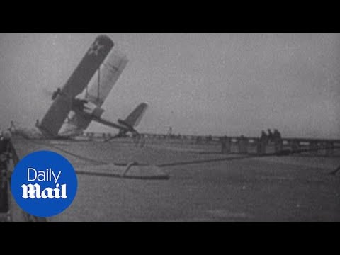 Aircrafts attempt to land on US Navy's first carrier, USS Langley - Daily Mail