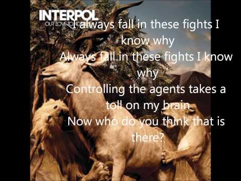 INTERPOL WHO DO YOU THINK LYRICS