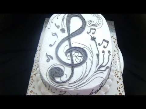 торт скрипичный ключ