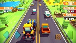 Машинки Майнкрафт. Новинка. Игровой Мультик для Детей. Blocky Highway: Traffic Racing. Осень 2016