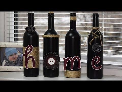 Красиво и оригинально украшаем бутылки👍ДЕКОР для дома👍 DIY Wine Bottle Bottle Craft