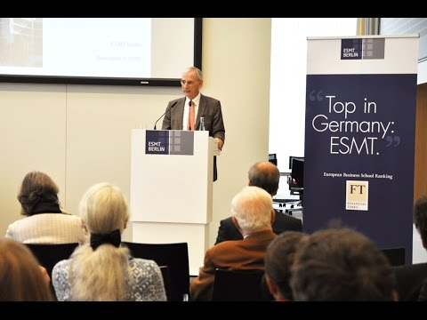 Uncertain times: perspectives for a stable Europe | ESMT Open Lecture with Jürgen Chrobog