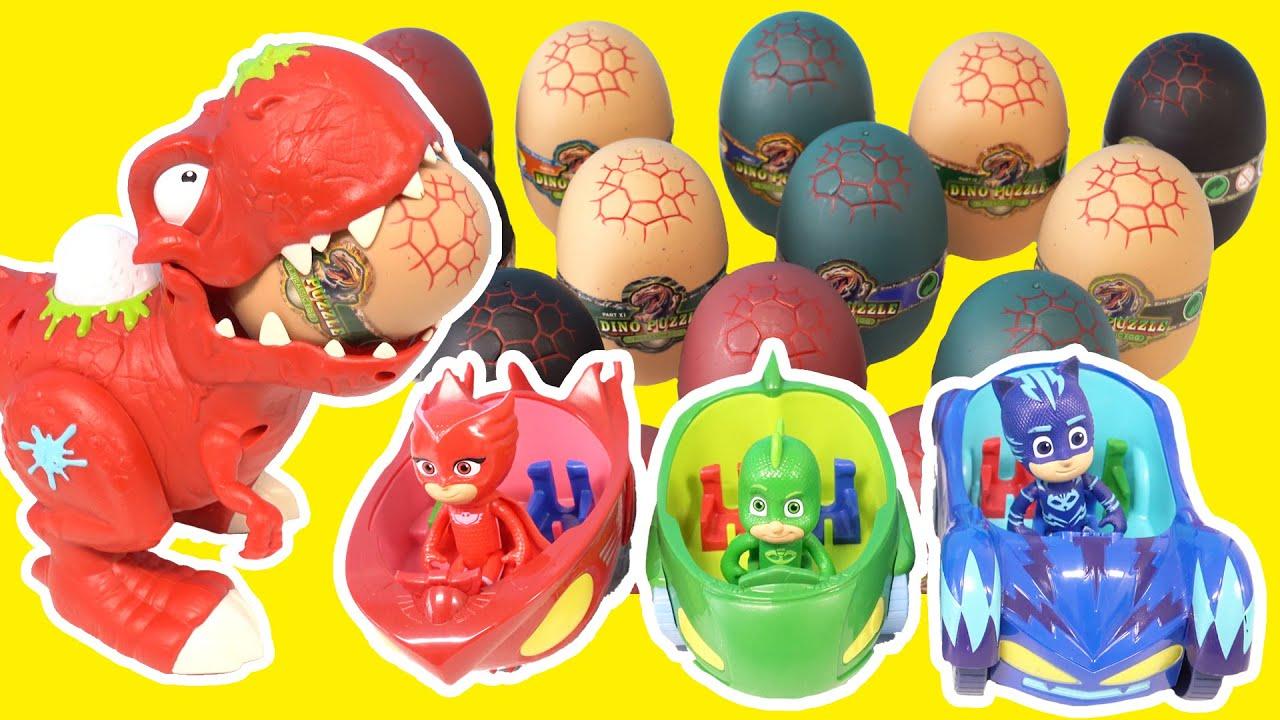 PJ Masks Dinosaur Eggs Episodes - 파자마삼총사 공룡알을 지켜라 - LEOPANG
