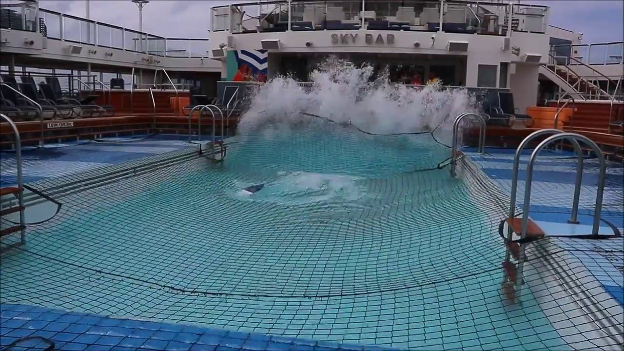 Rough Seas As Anthem Of The Seas Sails Towards New York YouTube - Cruise ship hits rough seas