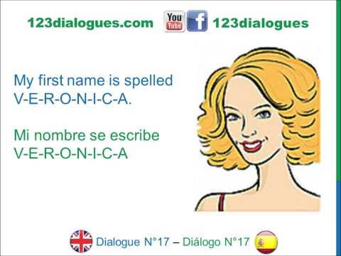 Spell your first name in spanish