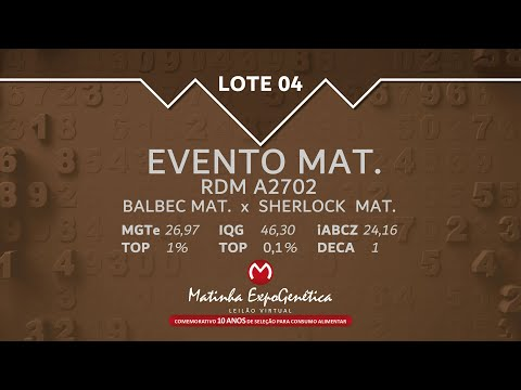 LOTE 04 MATINHA EXPOGENÉTICA 2021